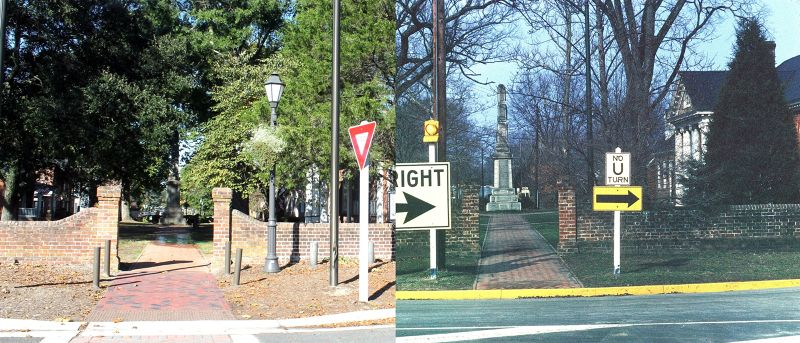 Gloucester Courthouse Square - right 1962 - left 2016