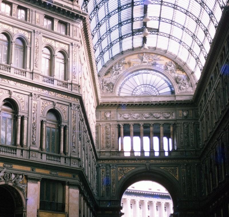 Inside Galleria Umberto I