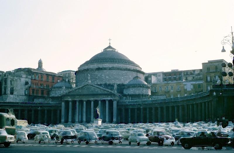 Piazza del Plebiscito with the Basilica of San Francesco di Paola