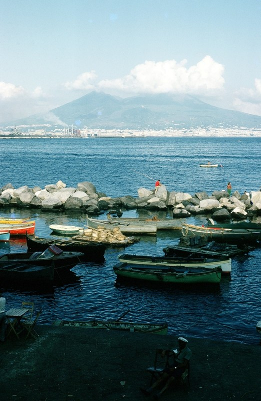 Vesuvius from St Lucia, Naples