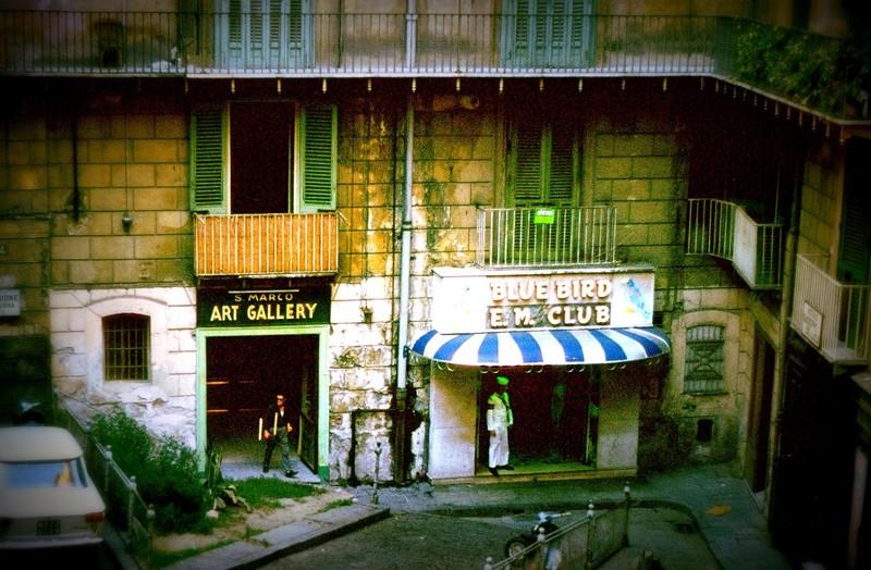 EM club from back hotel window