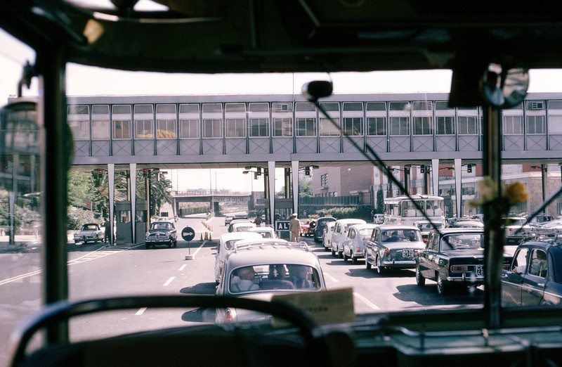 Toll booth on Autostrada