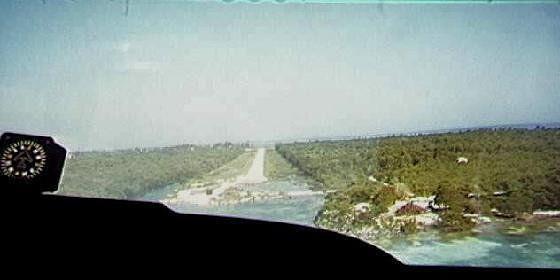 Landing strip on Caye Caulker