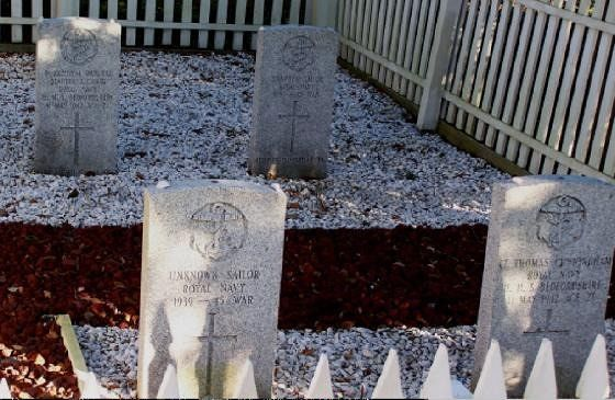 Graves of the four men