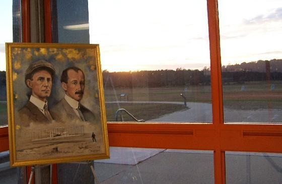 Orville and Wilber's Portraits in the visitor's center