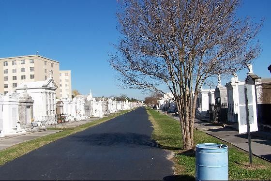 One of the cemetery roads
