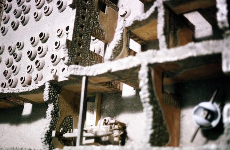 Museum exhibit - model of house