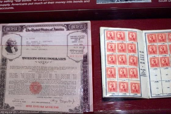 Savings bond and stamps
