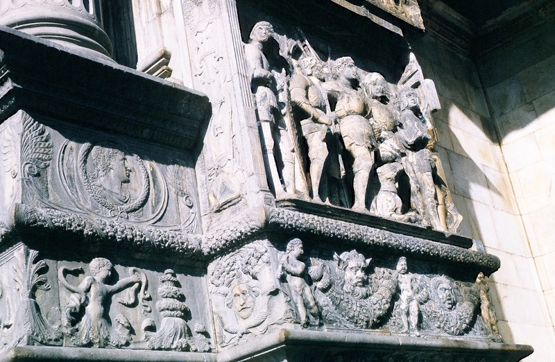 Bas Relief on New Castle