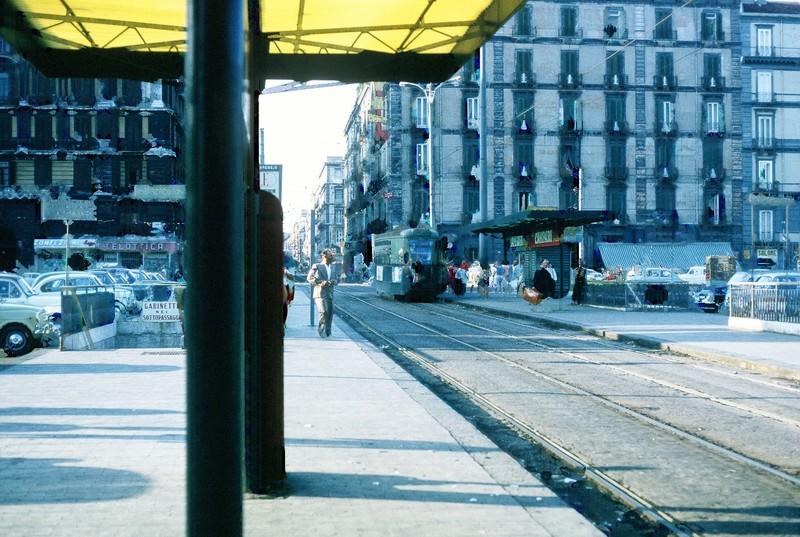 Trolley stop near RR station