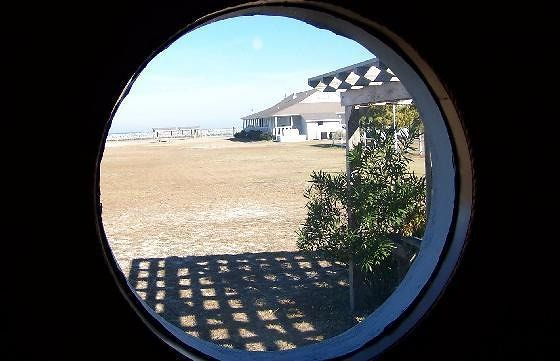 Porthole in the restaurant
