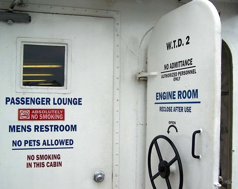 Passenger Lounge and Engine Room doors