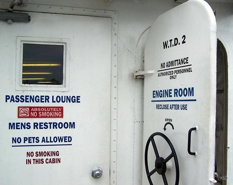 Passenger Lounge and Engine Room doors