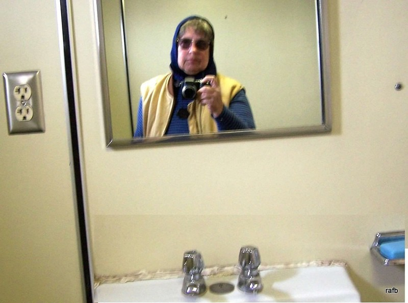 Selfie in the ladies room on board the ferry