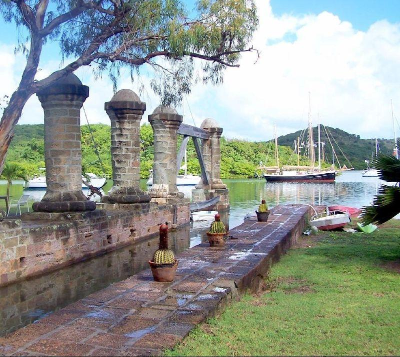 Wet Dock Pillars in Nelson's Dockyard