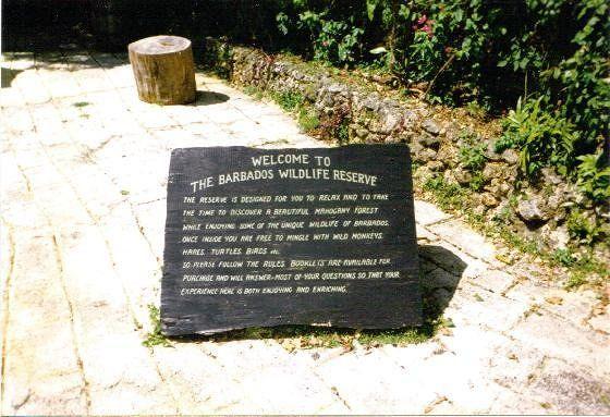 Sign at the entrance - Barbados