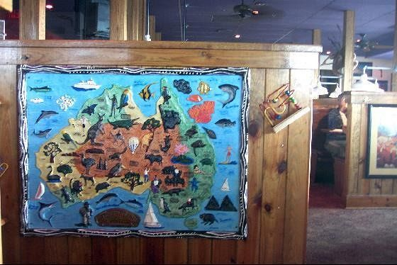 Map and toy inside Outback