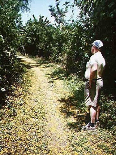 Bob beside the trail