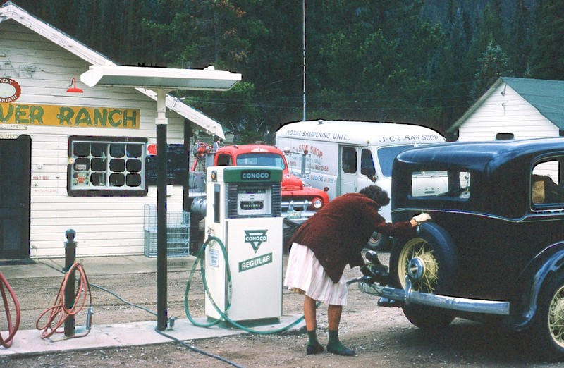 Filling station on the way up Berthoud Pass