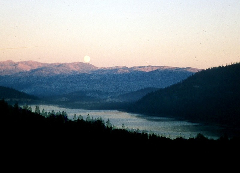 Moon over Donner Lake