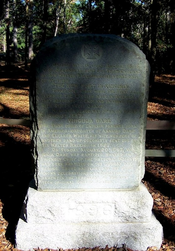 Monument at Fort Raleigh