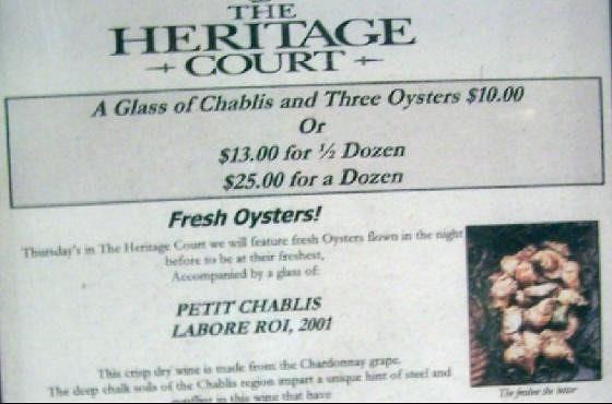 Posted menu
