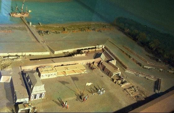 model of the fort at one time