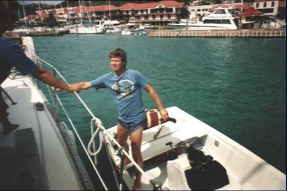 Second charter captain and the dinghy - St. Thomas