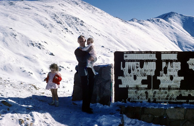 Bob and the kids at Loveland Pass 11,988 ft