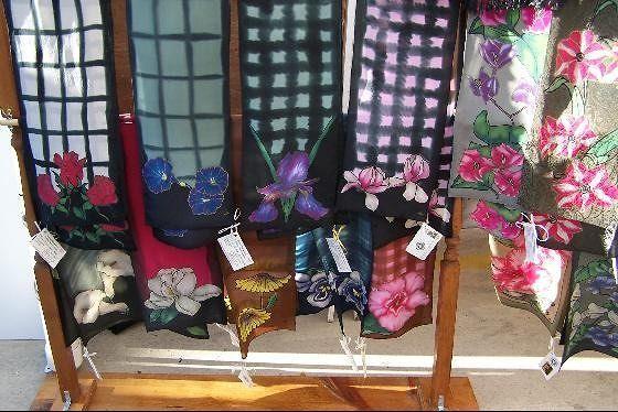 Kathleen Olson's silk scarves