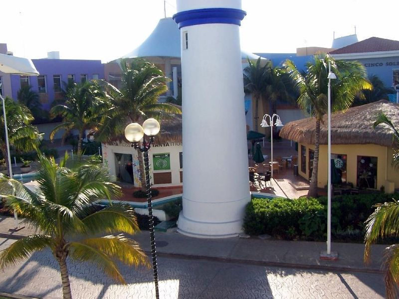 Base of the lighthouse in the marketplace