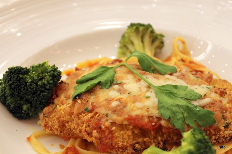 and then I had chicken parmesan