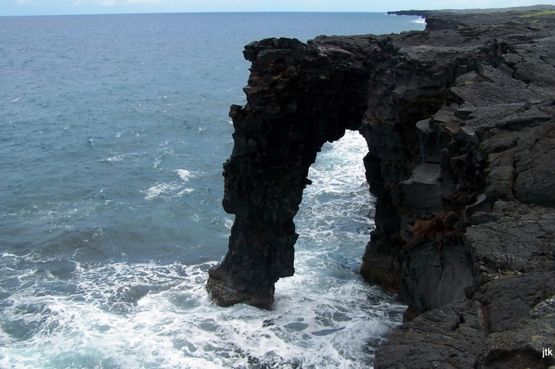 Grandson's photo of the sea arch