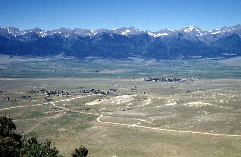 From Round Mt. 1948 - Silver Cliff closest to us and the upstart Westcliffe farther away