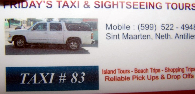 Taxi driver's card
