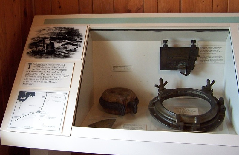 display about the sinking of the Monitor as it was being towed to Beaufort