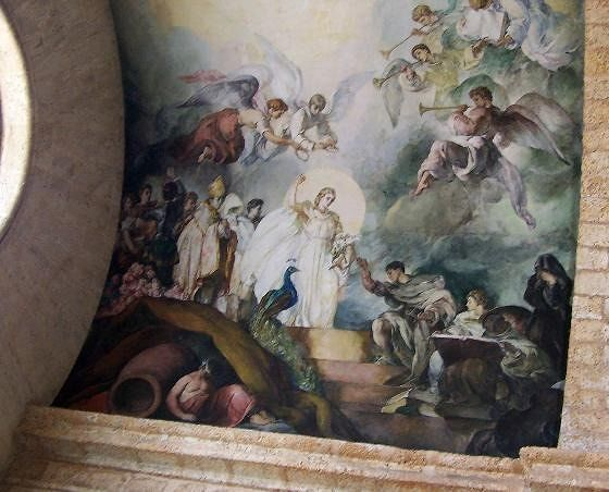 Fresco at the end of the former church