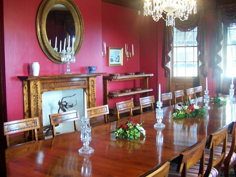 Dining Room with Bermuda cedar table