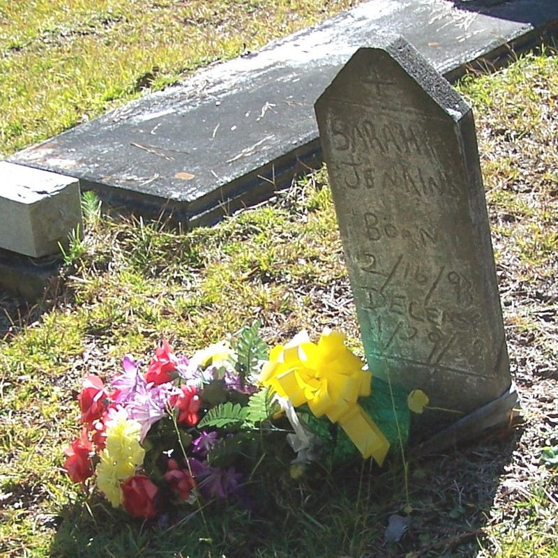 Flowers at a grave