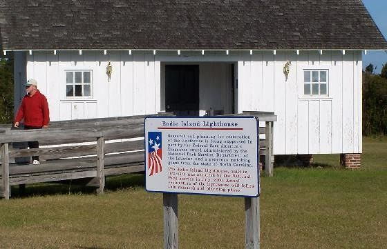 Bathrooms and restoration sign - Bodie Island