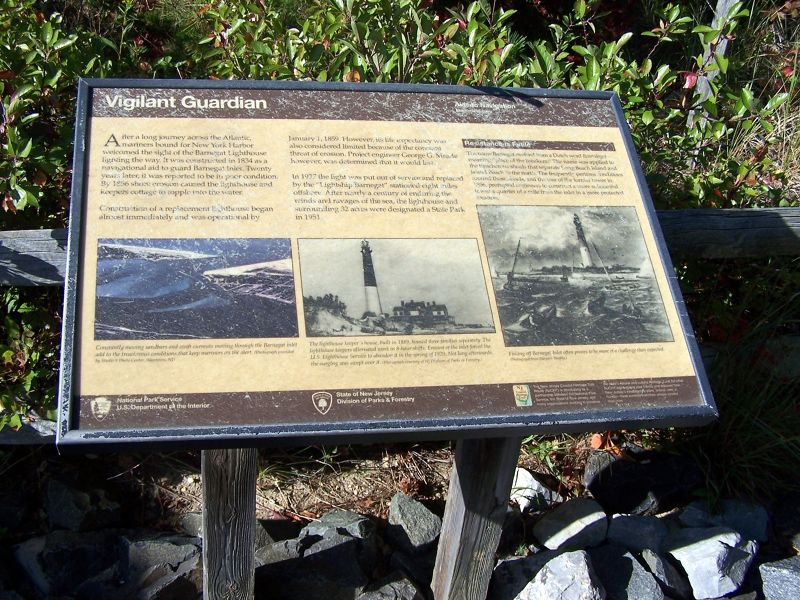 Sign about the lighthouse