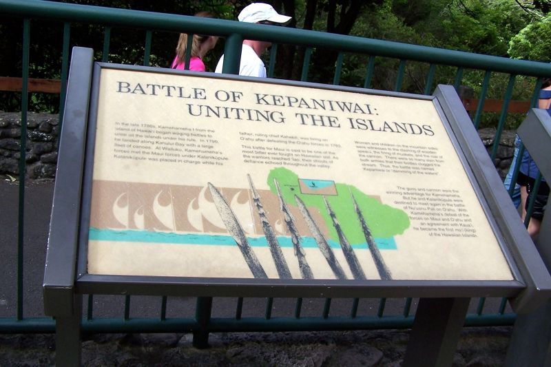 Sign about the Battle of Kepaniwai