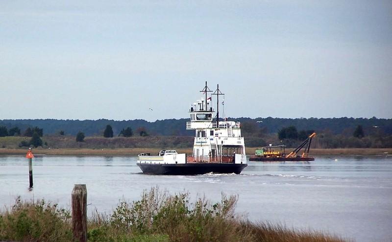 Approaching ferry