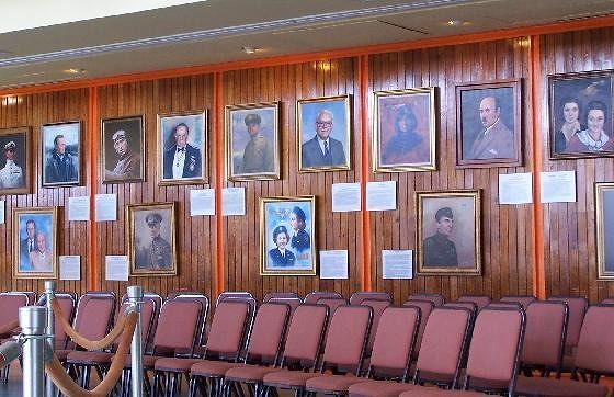 Portrait Wall and seating for Ranger talks