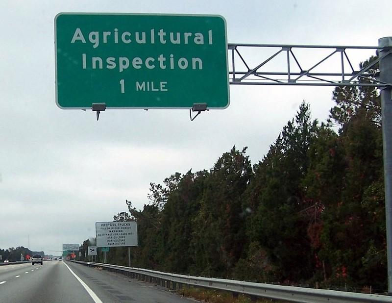 Entering Florida