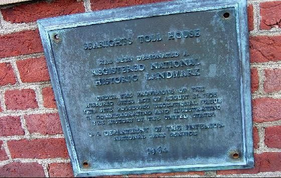 Plaque on tollhouse
