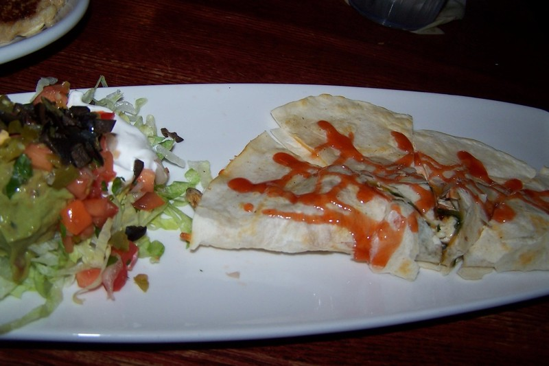 BBQ chicken quesadilla appetizer