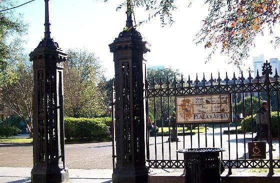 Fence around the square