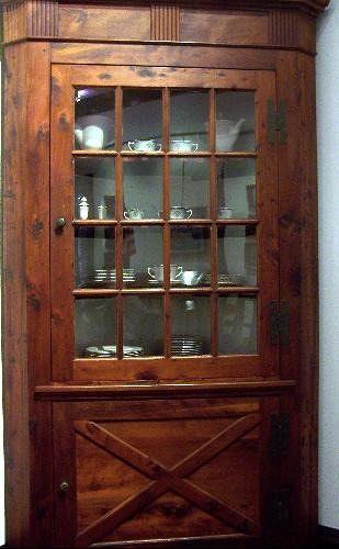 Real cedar corner cupboard