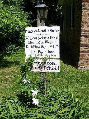 Princeton Meeting sign